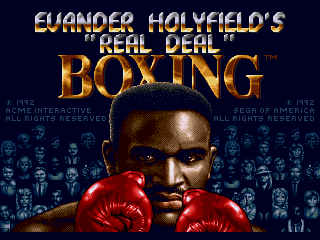 Эвандер Холифилд великий Бокс / Evander Holyfield's Real Deal Boxing - Денди игры онлайн