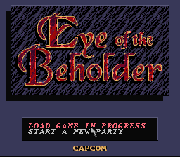 AD&D: Eye of the Beholder