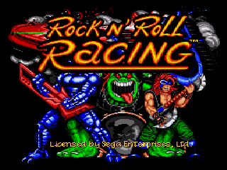 Рок-н-ролл гонка / Rock N' Roll Racing - Сега игры онлайн